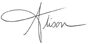 Alison's Signature