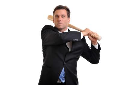 businessman with bat