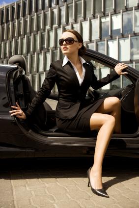 Business Woman in Cabrio